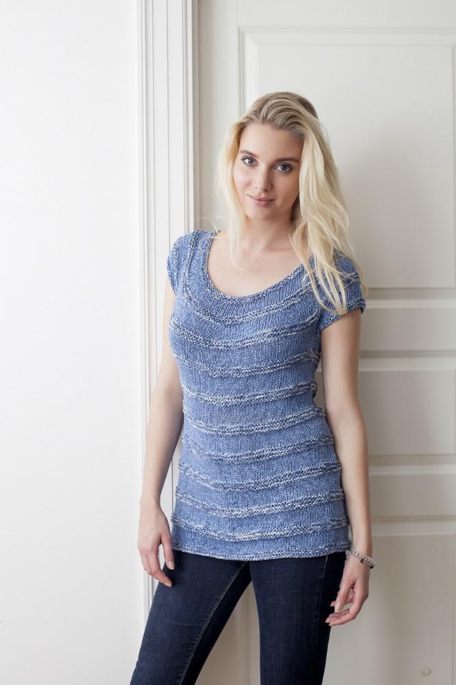 strikket sommertop dame
